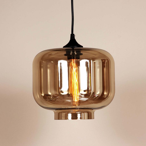 Control Brand - The Bergen Pendant in Brown Tint - LM594PBRN