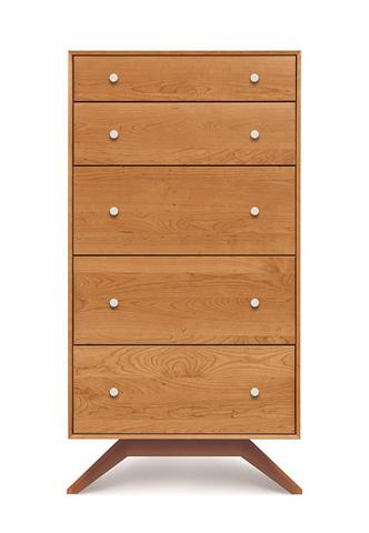 Copeland Furniture - Astrid 5 Drawer Chest - Walnut - 2-AST-50-14