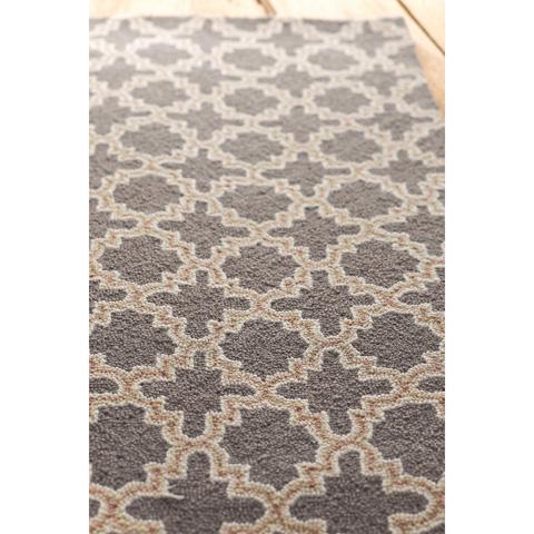 Dash & Albert Rug Company - Plain Tin Charcoal Wool Micro Hooked Rug - RDA168-58