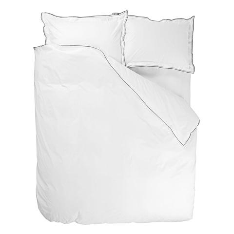 Designers Guild - Astor Charcoal/Dove Standard Pillowcase - BEDDG0751