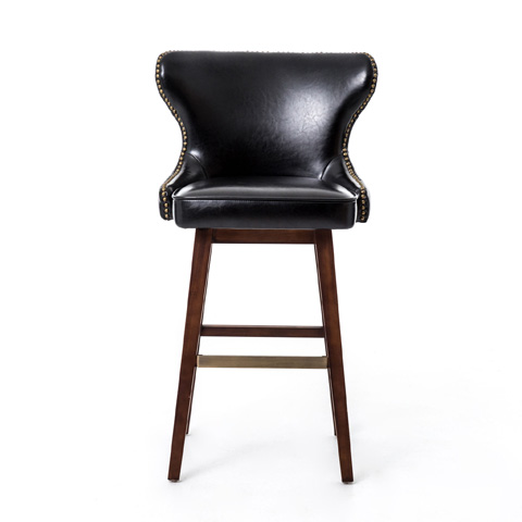 Four Hands - Black Julie Swivel Barstool - CLIN-M5D-001