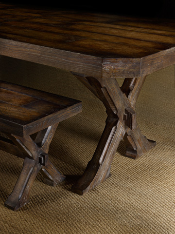 Hooker Furniture - Willow Bend Rectangle Trestle Table - 5343-75200