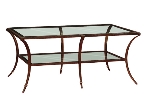 Marge Carson - Rectangular Glass Cocktail Table - SNA01-1
