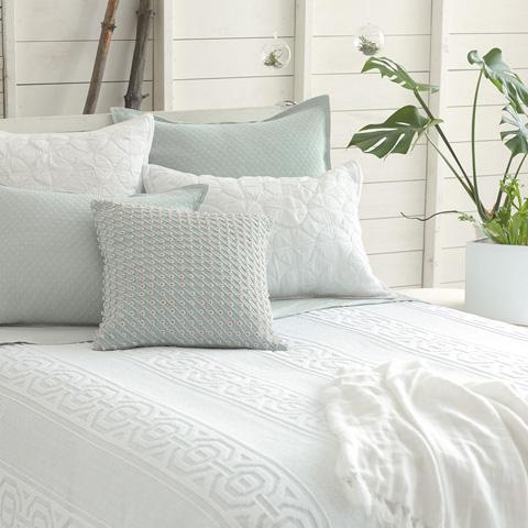 Pine Cone Hill, Inc. - Marina White Quilted Sham - Standard - Q259WSS