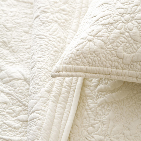 Pine Cone Hill, Inc. - Rosary Ivory Quilt - King - Q86K