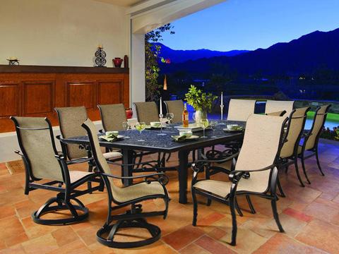 Castelle - Bellanova High Back Sling Swivel Barstool - 5499S