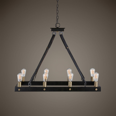 Uttermost Company - Marlow Eight Light Rectangle Chandelier - 21279