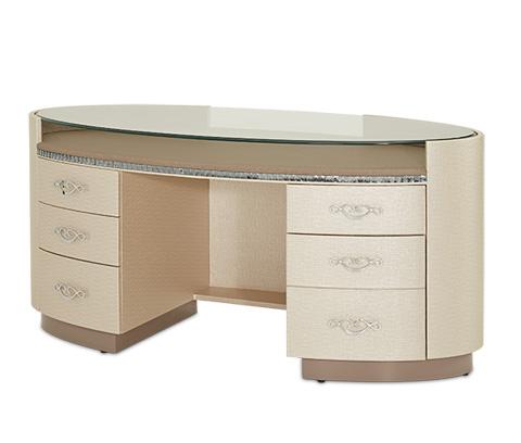 Michael Amini - Glass Top Desk - 08207-13