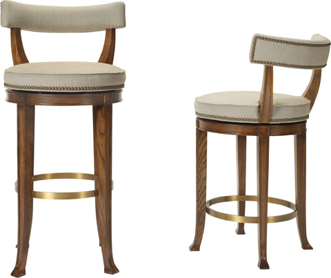 Hickory Chair - Newbury Swivel Curved Back Counter Stool - 138-13