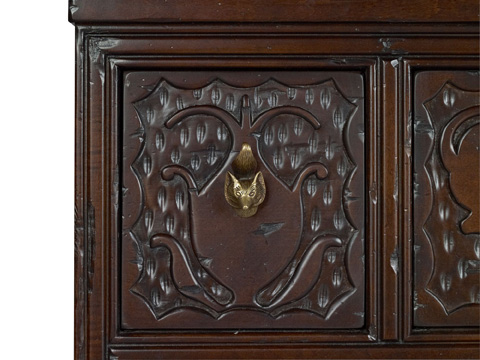 Hickory Chair - Carved Red Chest - 4087-71