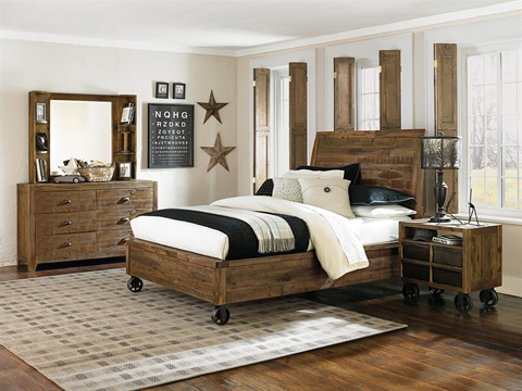 Magnussen Home - Twin Panel Bed with Storage Rails - Y2377-55
