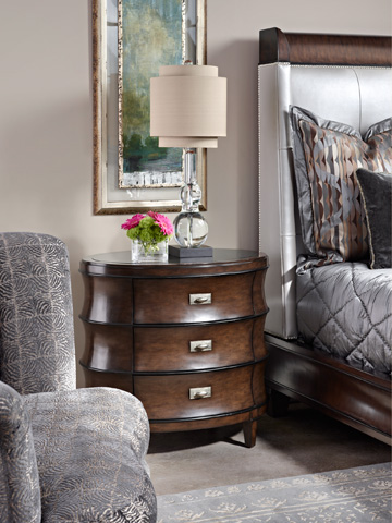 Marge Carson - Oval Three Drawer Chest - SNA12-3