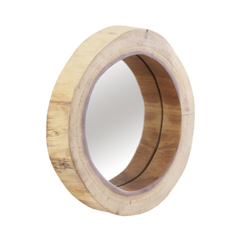 Image of Camcha Wooden Decor Accent Mirror