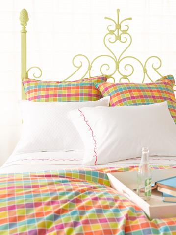 Pine Cone Hill, Inc. - Embroidered Hem White/Fuchsia Sheet Set - King - SESWFSK