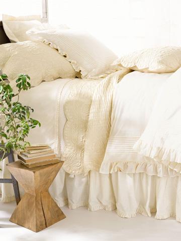 Pine Cone Hill, Inc. - Louisa Ivory Duvet Cover - King - SELSIDCK