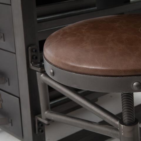Four Hands - Rustic Black Bleached Pine Rupert Work Table - CIMP-2E-RBBP