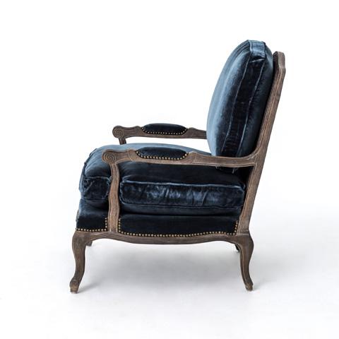 Four Hands - Cut Blue Pile Boutique Accent Chair - CIRD-51F2-E5