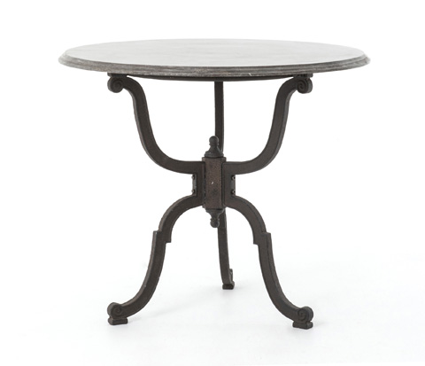 Image of Bluestone Iron Bistro Pedestal Table