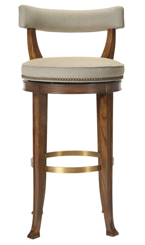 Image of Newbury Swivel Curved Back Counter Stool