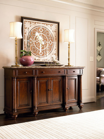 Thomasville Furniture - Marble Top Credenza - 43421-136