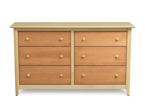Copeland Furniture - Sarah 6 Drawer Dresser - Maple - 2-SRH-61