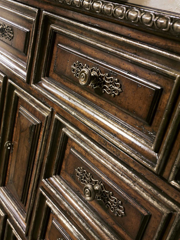 Marge Carson - Eight Drawer Dresser with Doors - SEV15