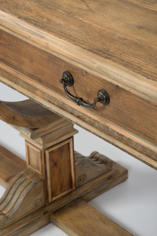 Four Hands - Sergio Bleached Pine Console Table - CIMP-M9-BP