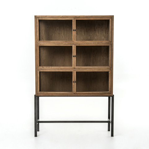 Image of Drifted Oak Spencer Curio Cabinet