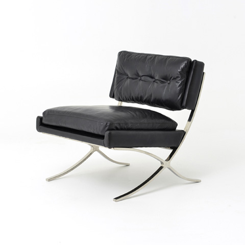 Image of Old Saddle Black Heathrow Lounge Chair