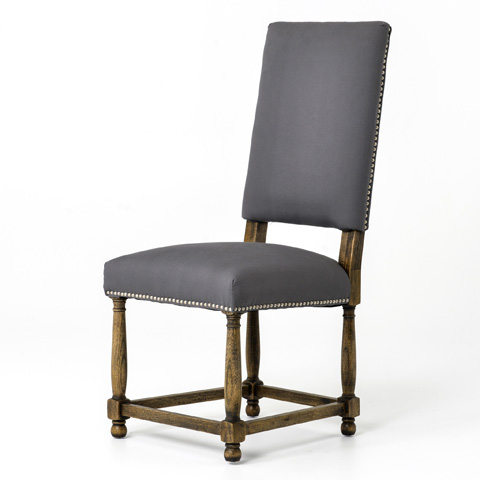 Image of Connor Grey Linen Dining Chair