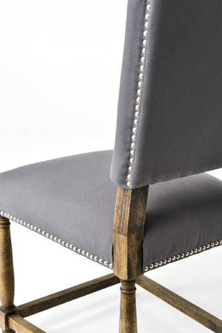 Four Hands - Connor Grey Linen Dining Chair - CASH-10GP-06