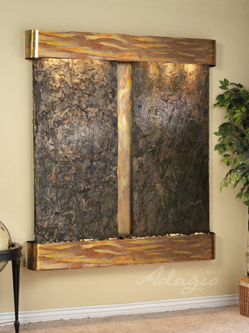 Adagio - Cottonwood Falls in Green Slate - CFR1002