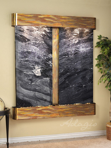 Image of Cottonwood Falls in Black Spider Marble