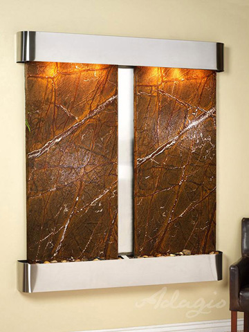 Image of Cottonwood Falls in Rainforest Brown Marble