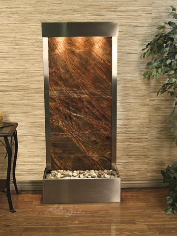 Adagio - Harmony River in Rainforest Brown Marble - HRF2006