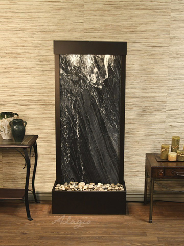 Image of Harmony River in Black Spider Marble