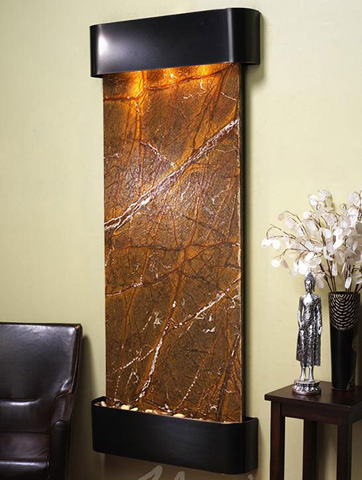 Image of Inspiration Falls in Rainforest Brown Marble