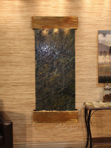 Image of Inspiration Falls in Rainforest Green Marble