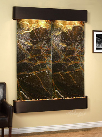 Adagio - Majestic River in Rainforest Green Marble - MRR1505