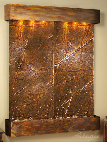 Image of Majestic River in Rainforest Brown Marble