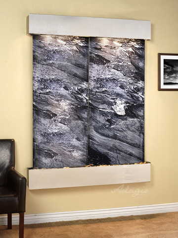 Image of Majestic River in Black Spider Marble