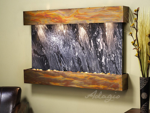 Image of Sunrise Springs in Black Spider Marble