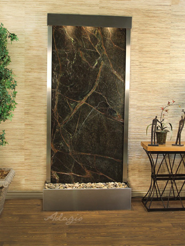Adagio - Tranquil River in Rainforest Green Marble - TRF2005