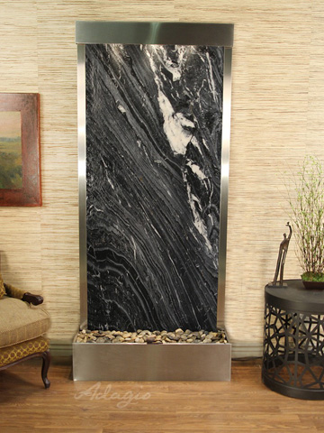 Image of Tranquil River in Black Spider Marble