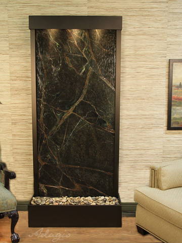 Adagio - Tranquil River in Rainforest Green Marble - TRF3505