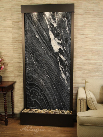Adagio - Tranquil River in Black Spider Marble - TRF3507