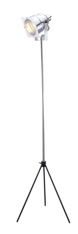 Image of Adesso Spotlight One Light Floor Lamp in Steel