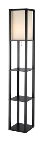 Adesso Inc., - Adesso Titan One Light Tall Shelf Floor Lamp - 3193-01