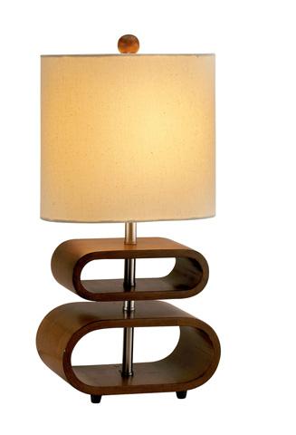 Adesso Inc., - Adesso Rhythm One Light Table Lamp in Walnut - 3202-15