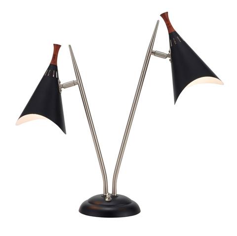Adesso Inc., - Adesso Draper Two Light Desk Lamp in Black - 3235-01